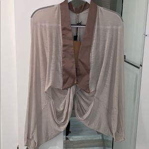 The imitation 100% carbon neutral shrug silk small